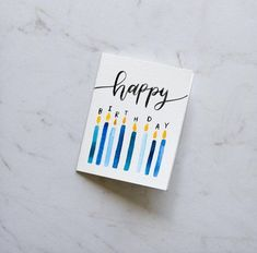 Happy Birthday Candles Card Birthday Candle Card Birthday Candles Blow Out the Candles Handmade watercolor card Watercolor Birthday Cards, Birthday Card Drawing, Cool Birthday Cards, Bday Cards, Handmade Birthday Cards, Watercolor Cards, Birthday Ideas, 50th Birthday, Fabulous Birthday