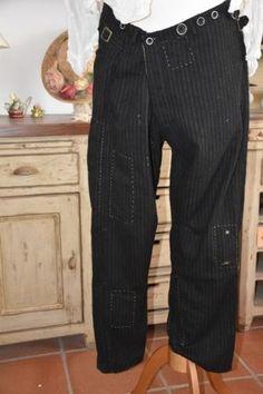 Magnolia Pearl Pinstriped Wool Devereux Trousers, W. Churchill