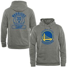 Men's Golden State Warriors Stephen Curry Heather Gray Core Issued Name & Number Pullover Hoodie
