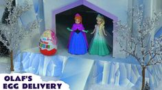 Kinder Surprise Disney Princess Zaini Eggs Frozen Olaf Barbie Hello Kitt... A really splendid and large cardboard Ice Palace is the setting here. Surprise eggs are passed to Olaf who drives them to various destinations where a character opens them to reveal the surprise toys inside. #surpriseeggs   #frozen   #elsa   #anna   #princess   #barbie   #kinder   #olaf