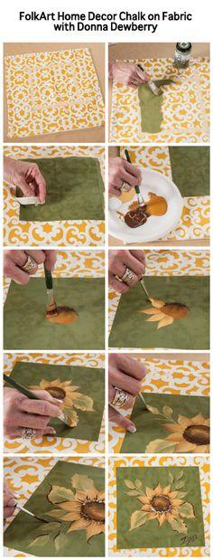 Donna Dewberry using FolkArt Home Decor Chalk on Fabric