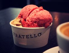 Fratello, authentic Italian gelato.  My new favorite treat!!