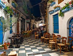 by Chris Kontokostas Citronella, Beautiful Streets, Beautiful Places, Bangkok, Places In Greece, Paradise On Earth, Old Street, Cultural Events, Classical Architecture