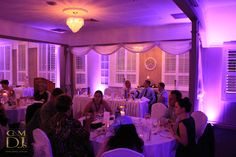 Purple wedding reception lighting at Brisbane Golf Club   G&M DJs   Magnifique Weddings #gmdjs #magnifiqueweddings #weddinglighting #brisbanegolfclub @gmdjs