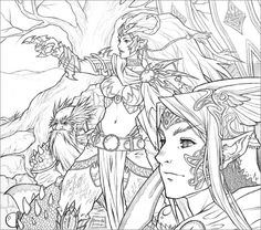 Detailed Coloring Pages For Adults | 40 Highly Detailed Lineart for Coloring | 10Steps.SG