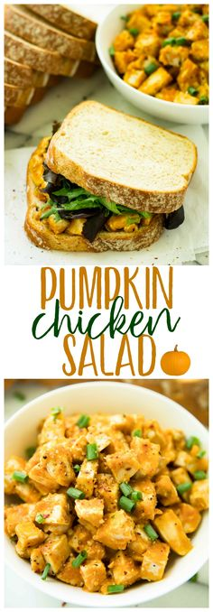 Brimming with savory fall flavors, this Barbecue Pumpkin Chicken Salad Sandwich is bound to be a lunch recipe you'll want to enjoy all season long! AD