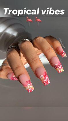 Bling Acrylic Nails, Simple Acrylic Nails, Square Acrylic Nails, Best Acrylic Nails, Nail Design Stiletto, Nail Design Glitter, Cute Acrylic Nail Designs, Unique Nail Designs, Square Nail Designs