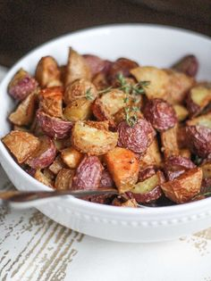 Crispy Parmesan Roasted Potatoes are the perfect fall side dish. The technique of turning down the temperature while cooking the potatoes results in golden brown perfectly evenly cooked potatoes. The Parmesan adds extra flavor and more crispness. It's an easy twist on a classic recipe that makes it even better. New potatoes are diced up (read more)