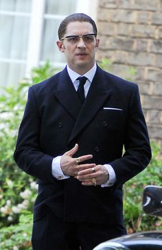 Tom Hardy on the set of Legend - July 14th 2014