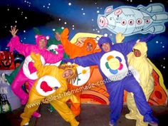 Homemade Care Bears in Space Group Costume... This website is the Pinterest of costumes Group Halloween Costumes, Group Costumes, Space Group, Homemade Costumes, Care Bears, Disney Halloween, Costume Ideas, Holiday Ideas, Travel Ideas