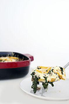 Winter Kale, Sausage and Butternut Squash Lasagna