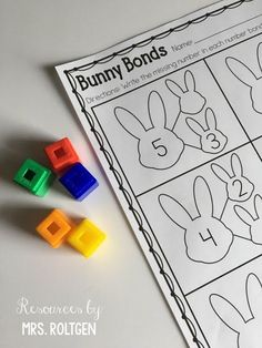 Bunny Number Bonds {Freebie} | This FREE download includes six pages that practice number bonds! Three of the pages focus on numbers 0-5, and three of the pages focus on numbers 0-10. Students can use manipulatives to help figure out which number is missing in the number bond. Perfect for the preschool, Kindergarten, or 1st grade classroom or homeschool to use in March, April, at Easter, or anytime in the spring. (preK, kinder, kinders, first graders, home school)