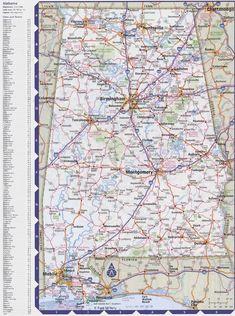 East Street North Talladega Al S Map Of Alabama And - Road map alabama