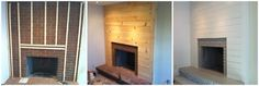 "hate brick fireplaces & old homes always have them. great to see the ""how to"" for how to update it. gorgeous."