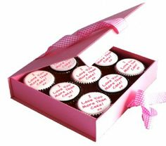 Personalised Valentine Cupcakes Gift Box Pink  http://www.caketoppers.co.uk/index.asp?Item=personalised-valentine-cupcakes-gift-box-pink--49018496