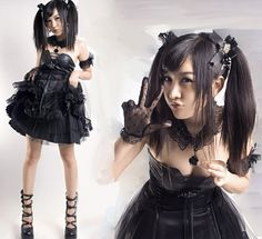 How about this black lolita dress ? Sweet or sexy? Haha~~