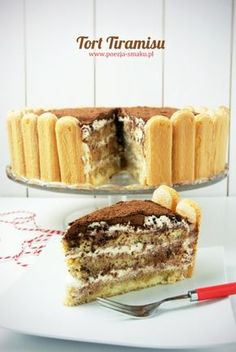 Tiramisu layer cake - a different way of serving a tiramisu (in Polish) Easy Blueberry Muffins, Blue Berry Muffins, Polish Recipes, Polish Food, Different Cakes, Sugar And Spice, Coffee Time, Mojito, Recipies