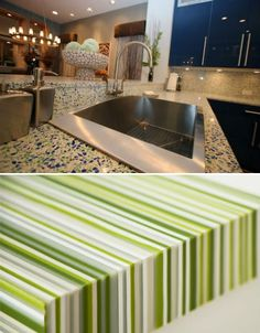 beautiful recycled glass | diy kitchen remodel, countertop and