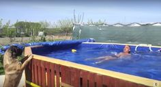 Videos with the instructions to build a swimming pool with pallets