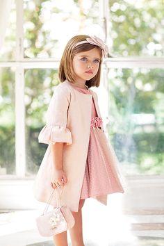 Moda Infantil para Ceremonias - Occasionwear for Kids Kids Dress Wear, Little Girl Outfits, Toddler Girl Dresses, Baby Dress, Girls Dresses, Flower Girl Dresses, Pageant Dresses, Little Girls, Casual Dresses