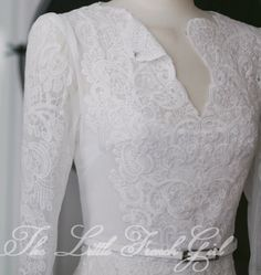 Black or white full tulle and lace detailed wedding dress on Etsy, $667.85 AUD