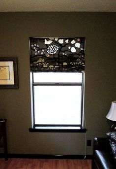 No Sew Roman Shades made from existing mini blinds.   Shade Installed Up by meredithheard, via Flickr
