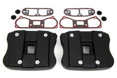 Rocker Box Cover Set Black For Harley Davidson Sportster XL 1986-2003 (NEW) #VTwinManufacturing