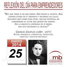 Reflexiones para Emprendedores 25/01/2014 http://es.wikipedia.org/wiki/Charles_Chaplin         #emprendedores #emprendedurismo #entrepreneurship #Frases #Citas #Reflexiones