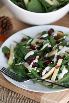 Cranberry Kale Salad With Pink Peppercorn Buttermilk Dressing