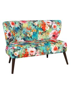 Armless Loveseat from Wanderlust: Colorful Rio on Gilt
