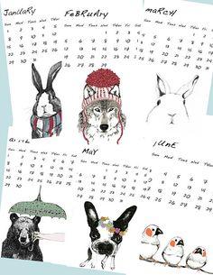 Corella Design 2012 Wall Calendar $25