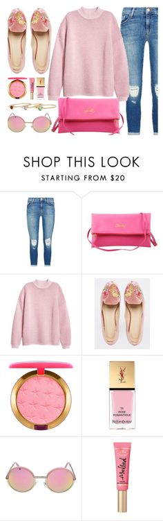 """Pink"" by mimicdesign ❤ liked on Polyvore featuring J Brand, ASOS, MAC Cosmetics, Yves Saint Laurent, casual, Pink and MimicDesign"
