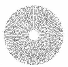 Mandala 022, Geometric Motifs Coloring Book, Dover Publications.