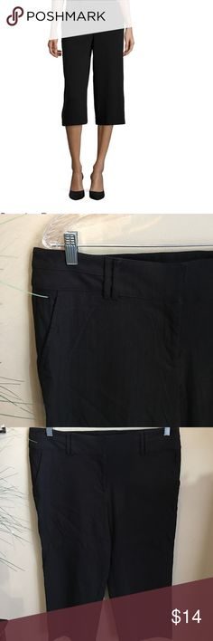 "Closet closing! Studio 253 Capri dress slacks Like new! Stretchy! Comfy! Slide slant pockets. No rear pockets. Double banded waist slimmer. Double clasp and zipper closure. Has belt loops but looks good without a belt as well. 22"" inseam. 36"" waist. studio 253 Pants Capris"