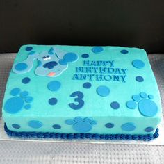 Second Generation Cake Design ~ Blues Clues Birthday Cake