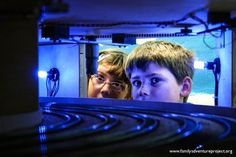 Blue and white. Underground at Miniatur Wunderland, Hamburg. Truly the world's largest model railway. http://familyadventureproject.org/2012/07/miniatur-wunderland-hamburg/