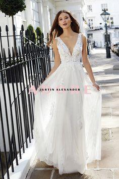 #adorebyjustinalexander #weddingdress #justinalexander Justin Alexander Bridal, A Line Gown, Formal Dresses, Wedding Dresses, Dream Wedding, Gowns, Bride, Floral, How To Wear