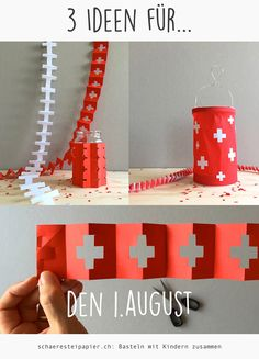 schaeresteipapier Diy Party Decorations, Christmas Decorations, Holiday Decor, Dinner Themes, Party Themes, Swiss National Day, Diy And Crafts, Crafts For Kids, Going Away Parties
