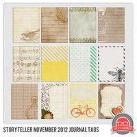 November Storyteller 2012 Journal Cards