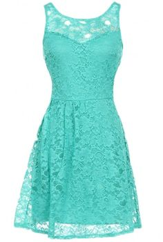 The Aqua Open Back Dress -- LOVE THE COLOR!