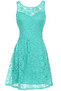 The Aqua Open Back Dress -- LOVE THE COLOR!