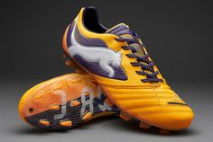 Puma Football Boots - Puma PowerCat 1 FG - Firm Ground - Soccer Cleats - Flourescent Orange-Blackberry Cordial-White