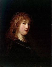 Portrait of Saskia van Uylenburg  Rembrandt's wife