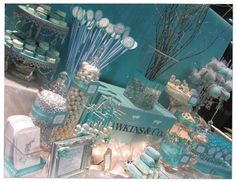 Tiffany Themed Candy Buffet: CT Bridal Expo - Part 1