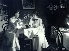Tea Room, New Zealand, 1906. These two women were possibly the proprieters of the establishment. #vintage