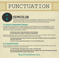 Punctuation Poster: Semicolon