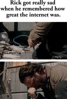 Rick has a sad - The Walking Dead