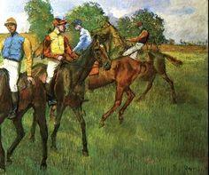 Edgar Degas: Race Horses - 1883-1885