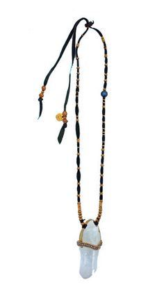 De Petra Signature Leather Quartz necklace