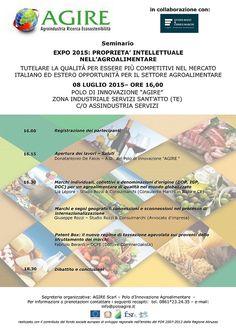 Expo 2015: proprietà intellettuale nell'agroalimentare